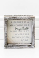 Adams & Co A Father is a Man who Snapshots where he wallet