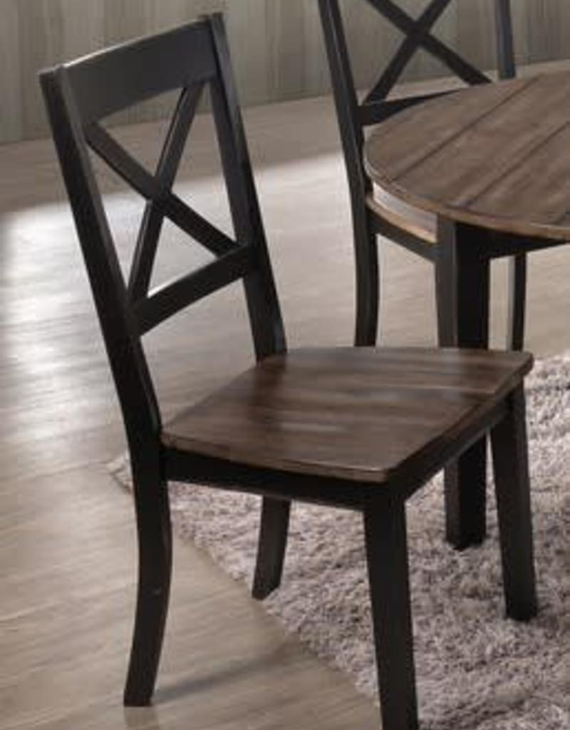 United A La Carte Farmhouse Dining Chair Black