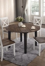 Lane A La Carte Farmhouse Round Dining Table w/ 4 Chairs