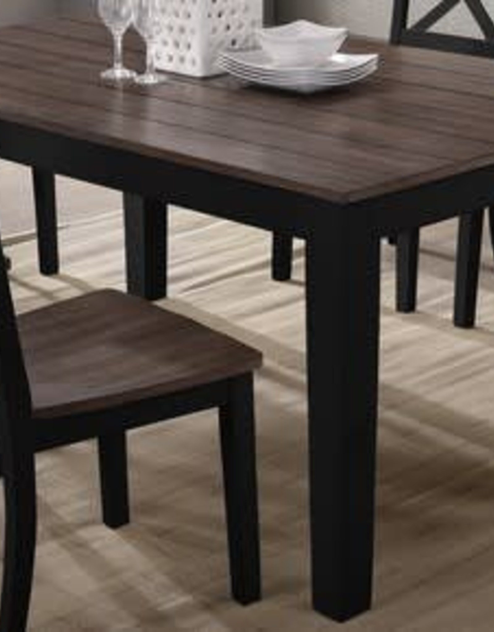 United A La Carte Rectangular Dining Table - Black