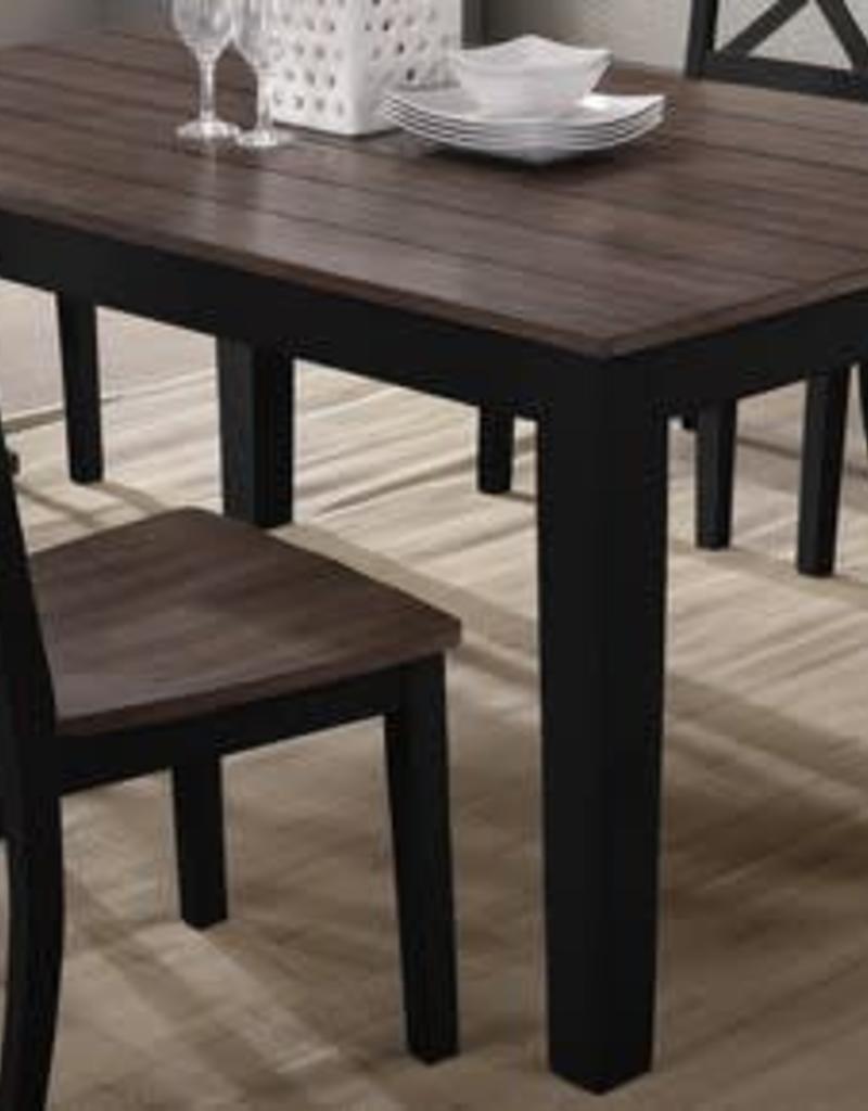 United A La Carte Rectangular Dining Table - Black