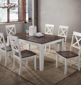 Lane A La Carte Rectangular Farmhouse Dining Table w/ 6 Chairs