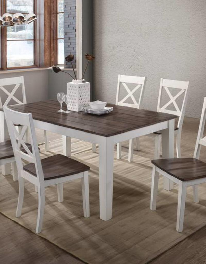 United A La Carte Rectangular Farmhouse Dining Table W 6 Chairs