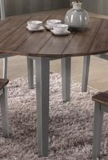 United A La Carte Gray Farmhouse Round Dining Table