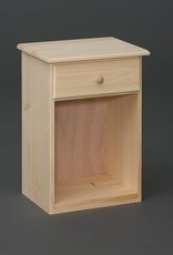 Fighting Creek Pine 1-Drawer Nightstand - Unfinished