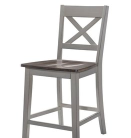 United A La Carte Dining Chair - Counter Height - Gray