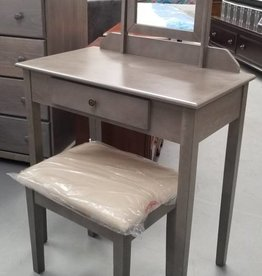 Crownmark Vanity w/ Stool  - Gray
