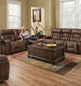 Lane Dorado Walnut Dual-Reclining Sofa and Love Seat Set - No Power