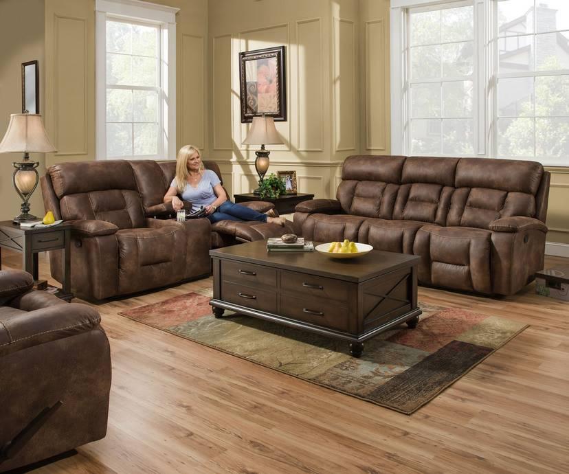 Dorado Walnut Dual Reclining Sofa And Love Seat Set No