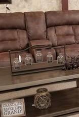 United Dorado Walnut Dual-Reclining Love Seat w/ Console - No Power