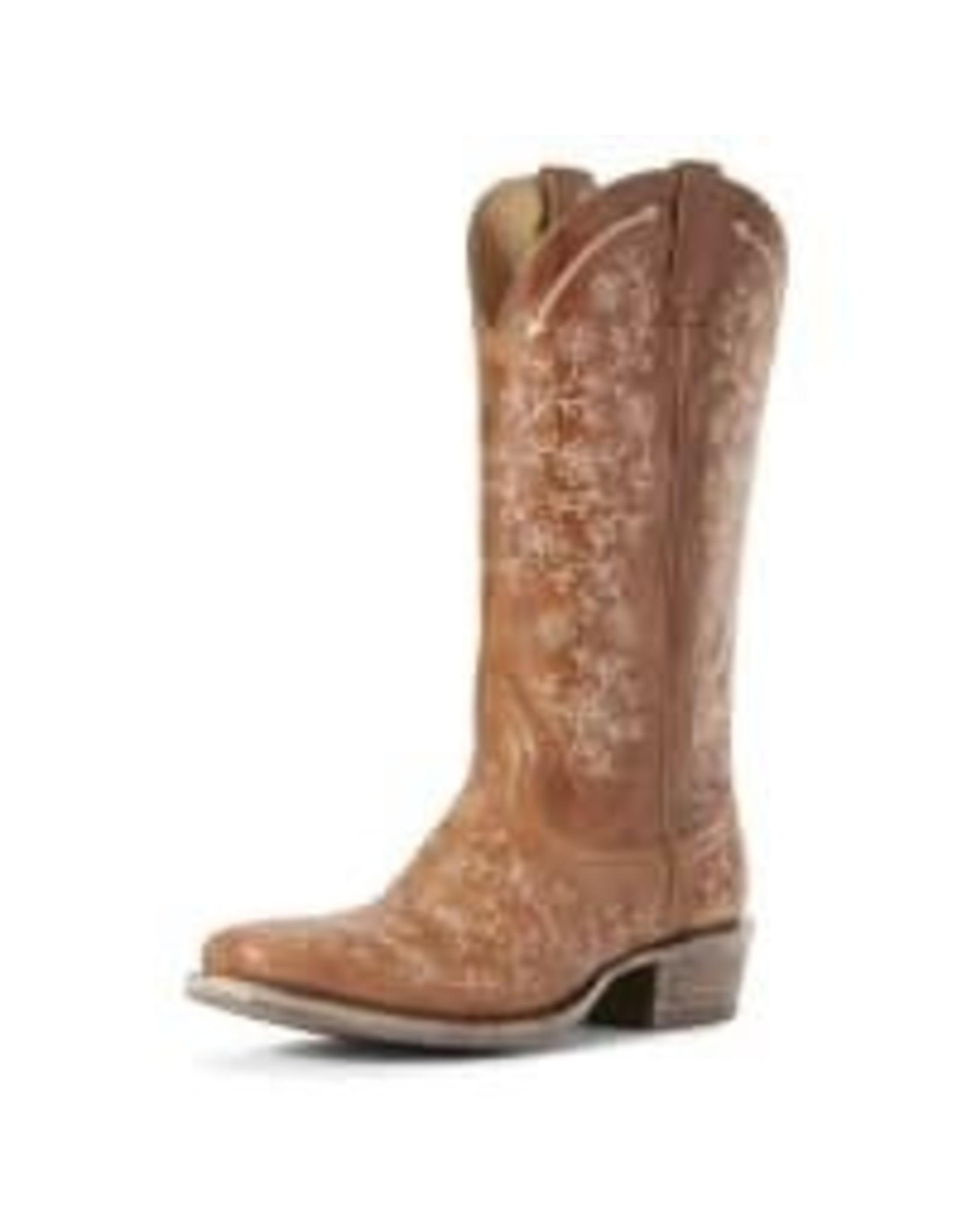 Boots-Women Ariat Womens Performance Fleur Cashew Cowgirl Boot 10027366