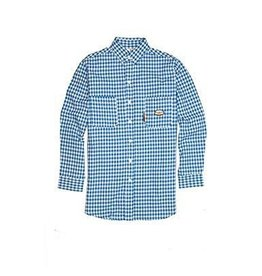 Tops-Men RASCO FR0824BL<br /> Flame Resistant WorkwearDress & Plaid Shirts