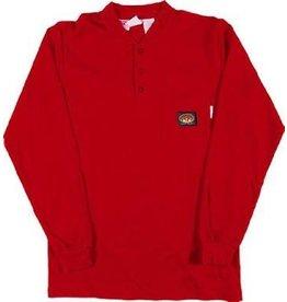 Tops-Men RASCO FR0101RD<br /> Henley T-Shirt