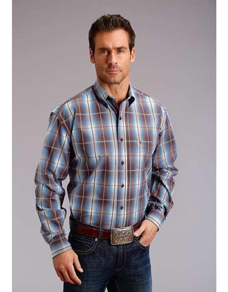 Tops-Men Stetson 11-001-0579-0758<br /> 9856 Line Plaid