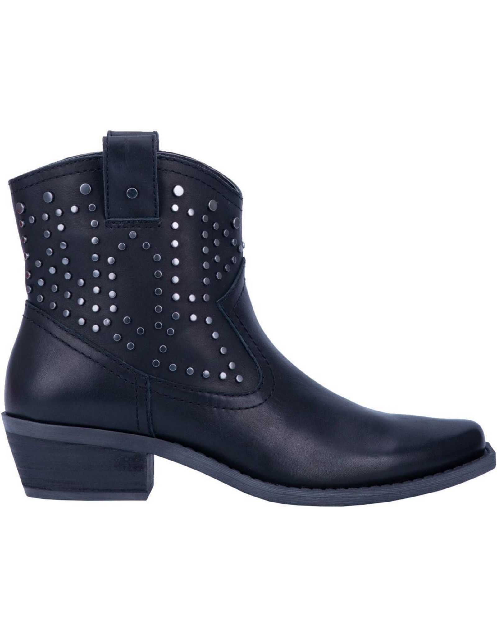"""Boots-Women DINGO DI150 'Dusty' Womens 6"""" Black Leather Ankle Booties"""