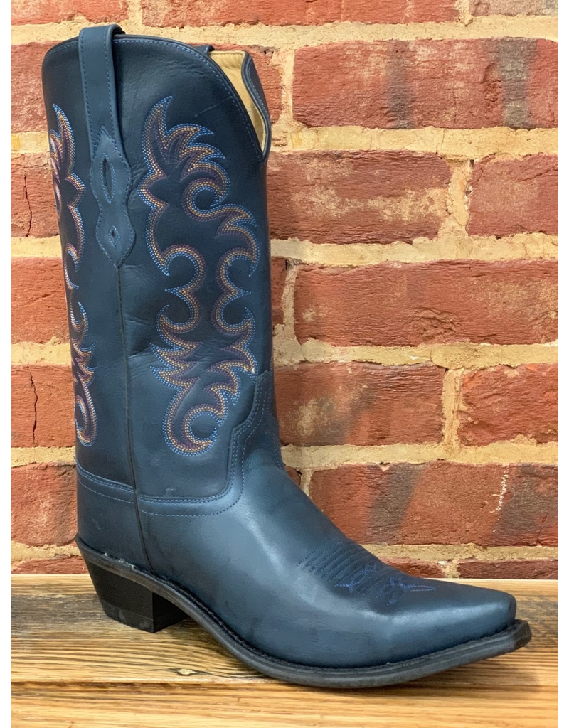 Boots-Women OLD WEST LF1513<br /> Navy Blue Calf
