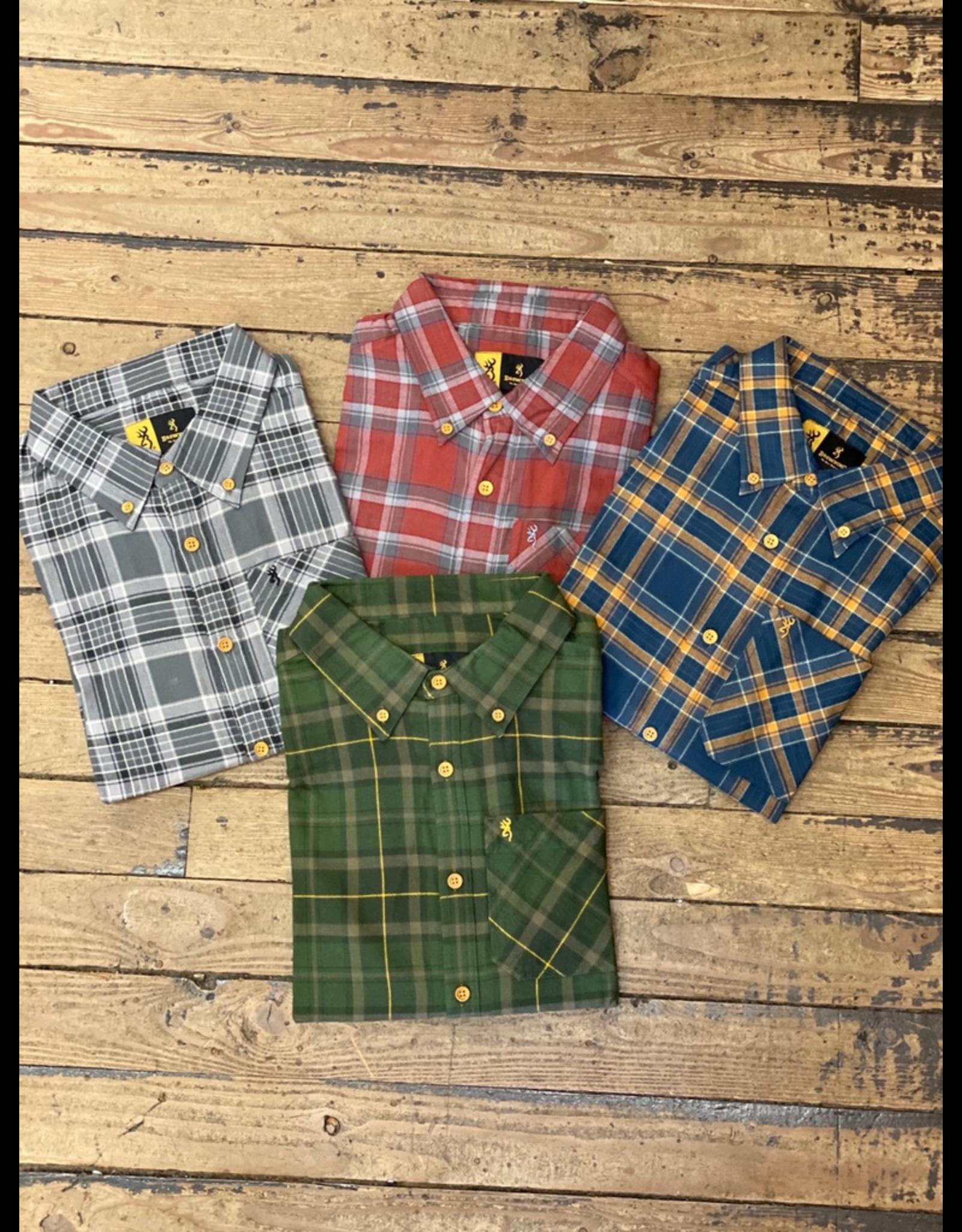 Tops-Men BROWNING Crawford Shirt Plaid<br /> A2765
