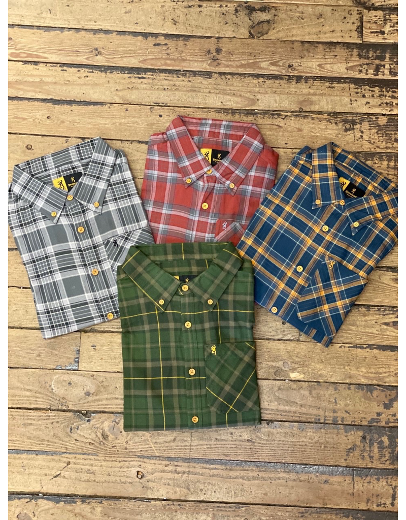 Tops-Men BROWNING Crawford Shirt Plaid<br /> A2765