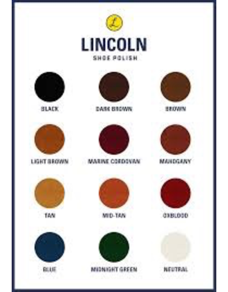 Boot Care Products LINCOLN Shoe Polish