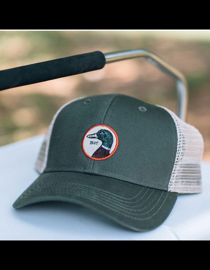 Hats DUCKHEAD D41007<br /> CIRCLE PATCH TRUCKER HAT, OSFM, PINE 391