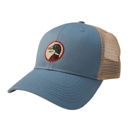 Hats DUCKHEAD D41007<br /> CIRCLE PATCH TRUCKER HAT, OSFM, STEEL 435