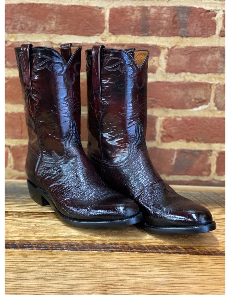 LUCCHESE E1845.RR 10 D<br /> Black Cherry Smooth Ostritch