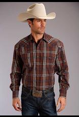Tops-Men STETSON Plaid Snap Shirt