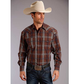 Tops-Men STETSON Plaid Snap Shirt