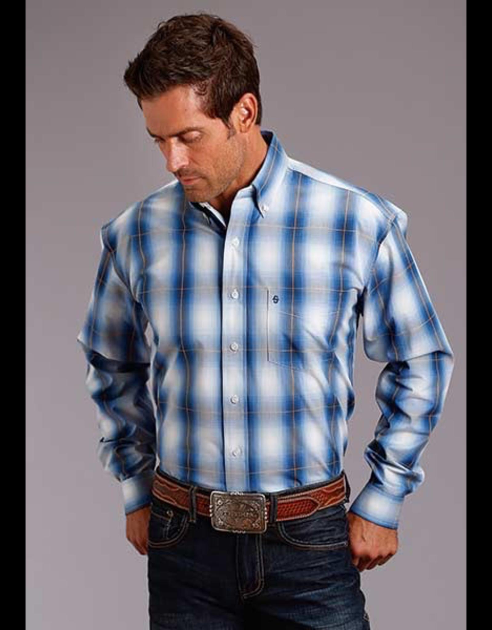 Tops-Men STETSON Mens Ombre Shirt