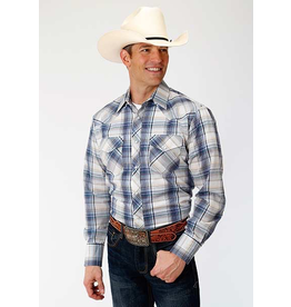 Tops-Men ROPER Multi Plaid Snap