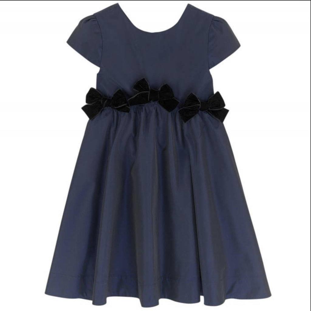 Lili Gaufrette Lili Gaufrette Navy Bow Dress