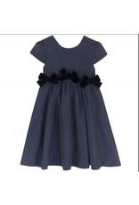 Lili Gaufrette Lili Gaufrette Dress Navy w/velvet bows Lostaca
