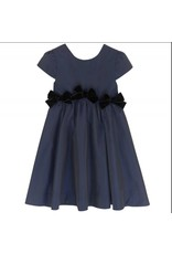 Lili Gaufrette LiliG Dress Navy w/velvet bows Lostaca W18