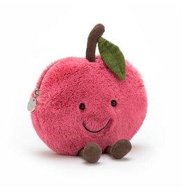 Jellycat JC Amuseable Cherry Zip Bag
