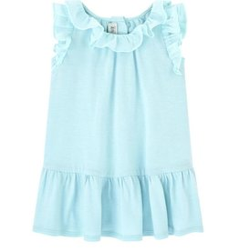 Jean Bourget Jean Bourget Dress Aqua Ruffle
