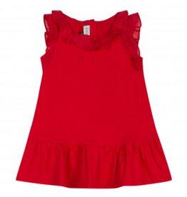 Jean Bourget JB Dress Red Coquelicot Ruffle JN30131 S19