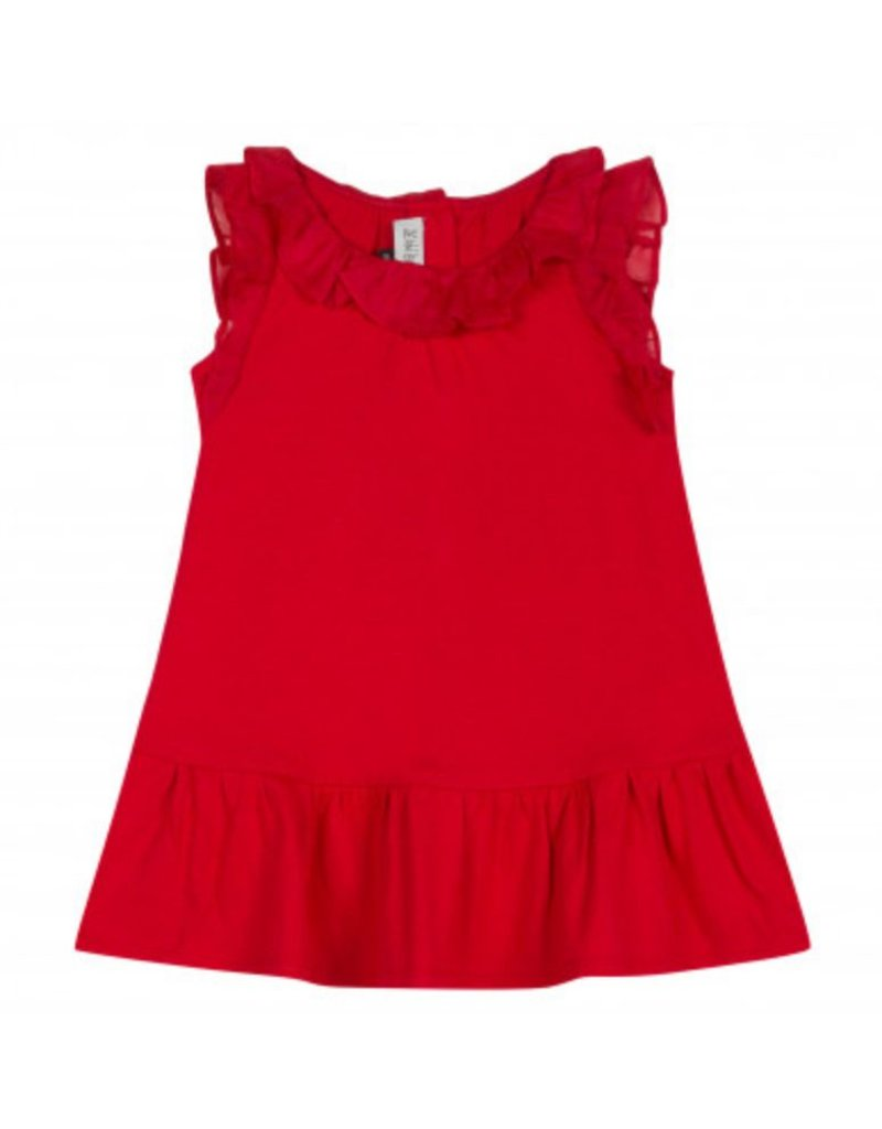 Jean Bourget JB Dress Red Coquelicot Ruffle JN30131 S19
