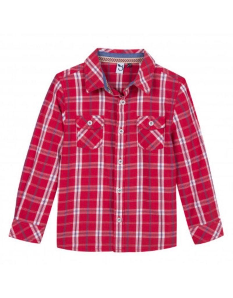 3 Pommes 3 Pommes Shirt LS Red Plaid