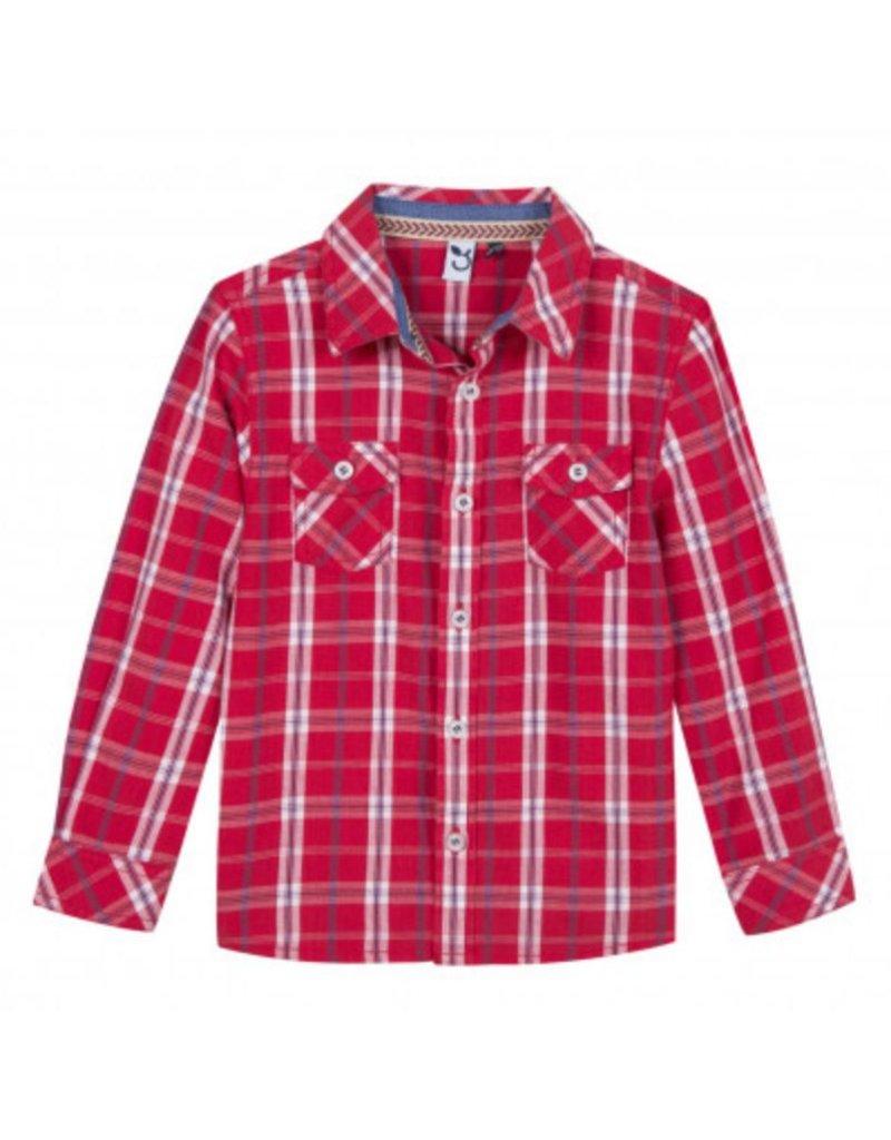 3 Pommes 3P Shirt LS Red Plaid 3N12013