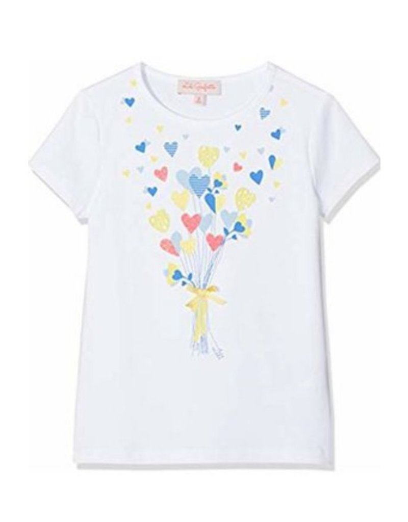 Lili Gaufrette Lili Gaufrette Tshirt Heart Balloons White