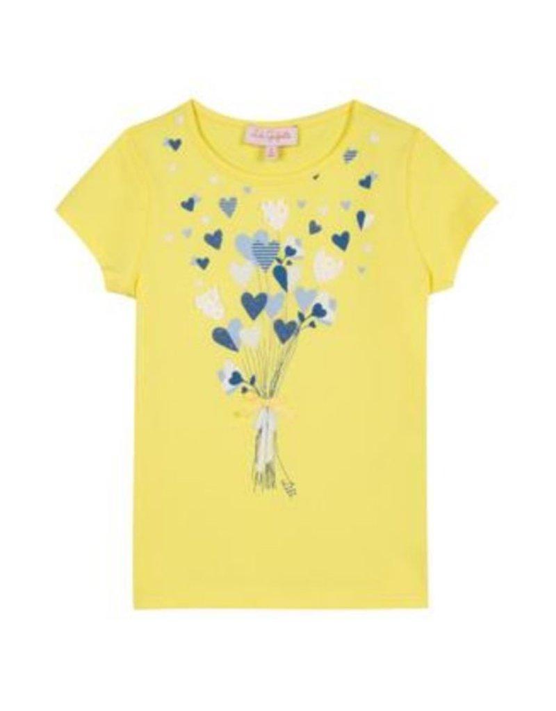 Lili Gaufrette Lili Gaufrette Tshirt Heart Balloons Yellow
