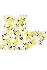 Catimini Catimini Dress w/bloomers Yellow print