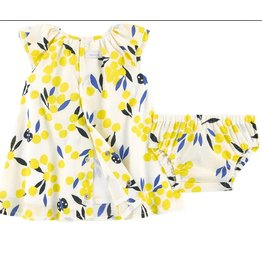 Catimini Catimini Dress w/bloomers Yellow print