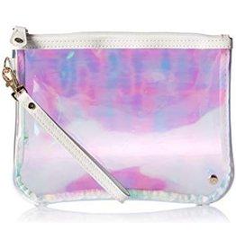 Stephanie Johnson SJ Cosmetic Bag flat wristlet Miami Irridescent