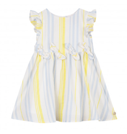 Lili Gaufrette LiliG Striped SS Dress Yellow Blue GN30001 S19