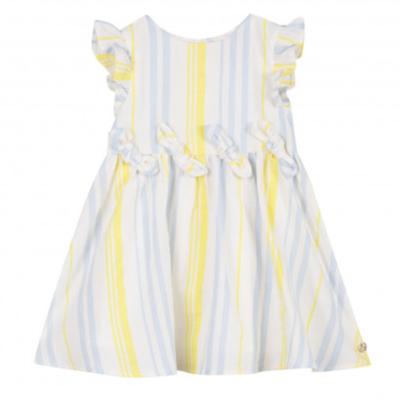 Lili Gaufrette Lili Gaufrette Striped Dress Yellow Blue