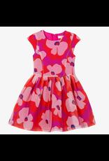 Catimini CAT Dress Fuschia Floral Organza CN30365 S19