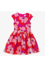 Catimini Catimini Dress Fuschia Floral Organza