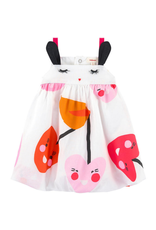 Catimini CAT Dress bubble pink orange CN33061 S19