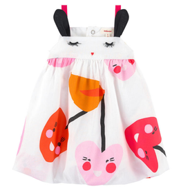 Catimini Catimini Dress bubble pink orange